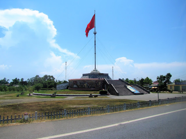 hien luong bridge flagpole dmz vietnam world away