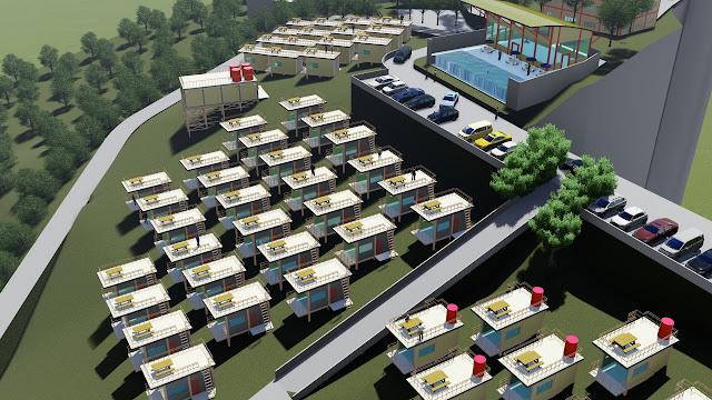 gambar site plan villa