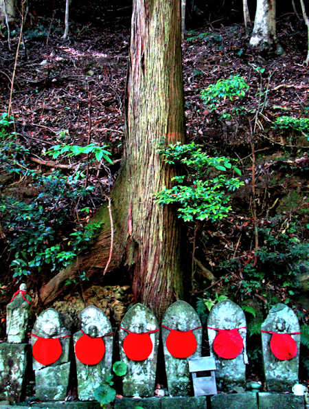 Line of statues at Hasedera Temple