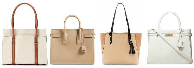 One of these totes is from Saint Laurent for $2,890 and the other three are under $60. Can you guess which one is the designer tote? Click the links below to see if you are correct!