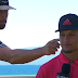 Travis Kelce gives Patrick Mahomes wet willy during live interview at celebrity golf tournament