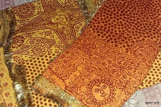 कुमाऊँ अंचल में ओढनी/दुपट्टे (पिछौड़ी या पिछौड़ा) के पारंपरिक डिजाईन (प्रिण्ट) को रंग्वाली कहा जाता है Rangwali kumaoni Pichora, Rangwali Pichhoda, kumaoni pichhaura in hindi or pichaura dupataa