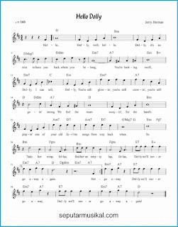 chord hello dolly lagu jazz standar