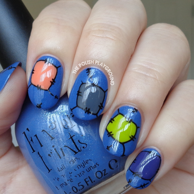 Halloween Inspired Patchwork Stamping Nail Art
