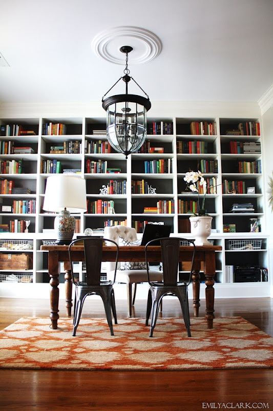 Ideally, I Would Like To Have A Large Custom Bookcase, Such As Emily A.  Clarku0027s Wall To Wall Bookcase In Her Gorgeous Home Office: