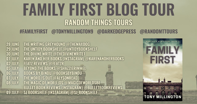 Family First by Tony Millington book blog tour banner