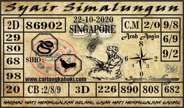 Kode syair Singapore Kamis 22 Oktober 2020 152
