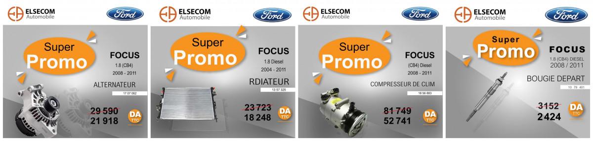 إلسيكوم موتورز: تخفيضات تصل إلى 55% على قطع غيار الفورد فوكس