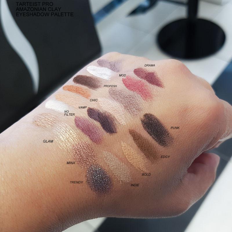 Tarte Tarteist Pro Amazonian Clay Eyeshadow Palette - Swatches