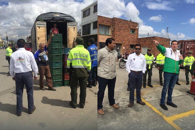 En Chía, alcalde Donoso lideró operativo de espacio público