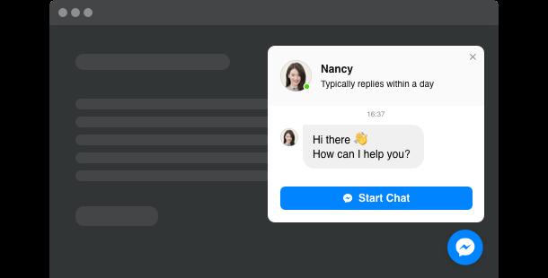 Виджет Messenger для сайта
