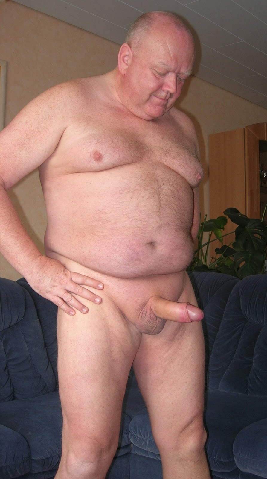Fat Old Man Flaccid Cock-3695