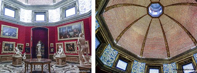 Tribuna, uma sala octogonal que foi o embrião da Galleria degli Uffizi, em Florença