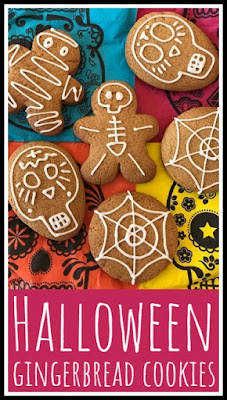 Simple Halloween gingerbread cookies and biscuits