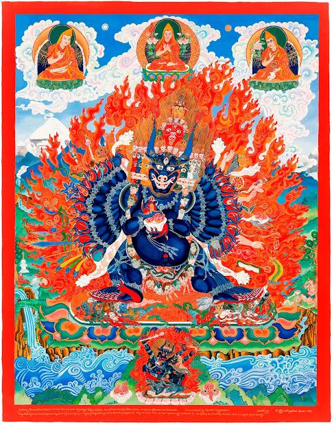Yamantaka Vajrabhairava thangka Yamantaka_thangka Vajrabhairava_thangka