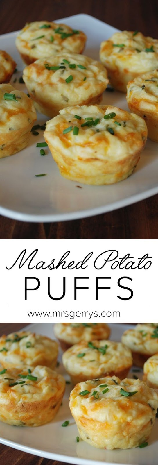 Delicious mashed potato puffs that are crispy on the outside and soft, creamy and cheesy on the inside.