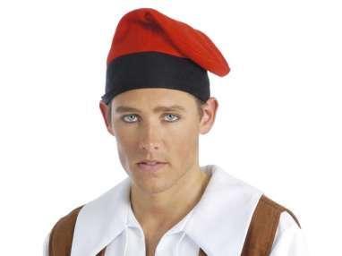 catalá típi, barretina, ulls clas, barret, roig, roch, vermell