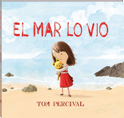 Portada del álbum ilustrado El Mar lo vio de Tom Percival