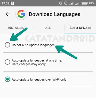 Cara Menghilangkan Pemberitahuan Downloading English (US) Terbaru 2017