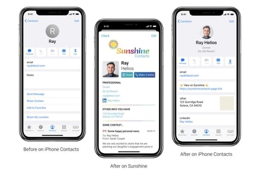 Sunshine Contact uses artificial intelligence to manage contacts