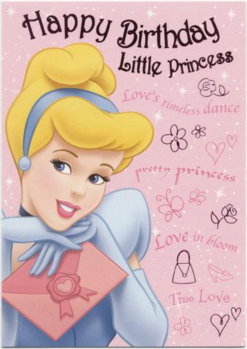Birthday greeting cards disney princess