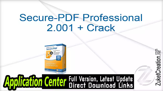 Secure-PDF Professional 2.001 + Crack