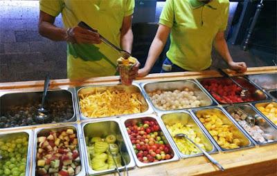 khay buffet trái cây inox
