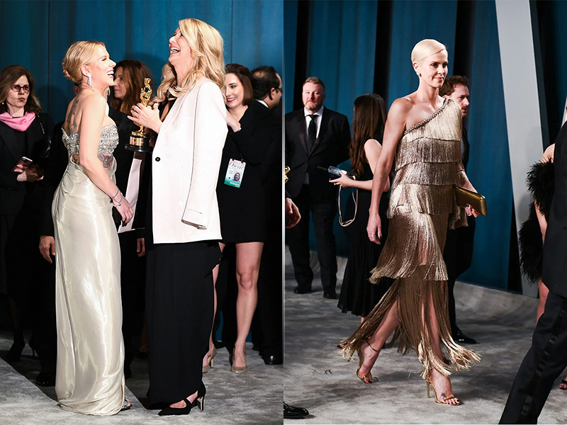 Scarlett Johansson and Laura Dern, Charlize Theron