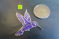 Vergleich Münze: Kunstvolles Silber Halskette mit Kolibri Anhänger