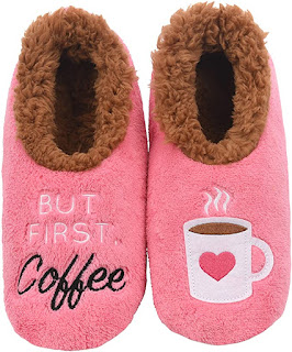 Mothers Day gift ideas include these coffee slippers