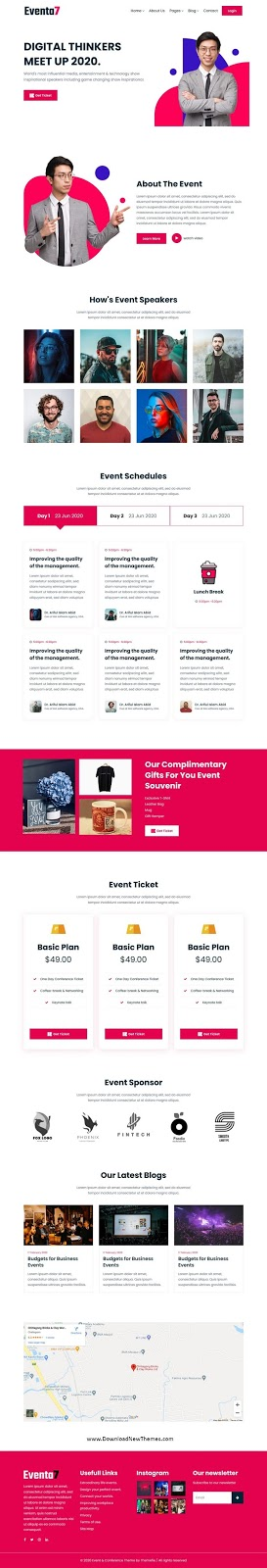 Event Conference Website Template