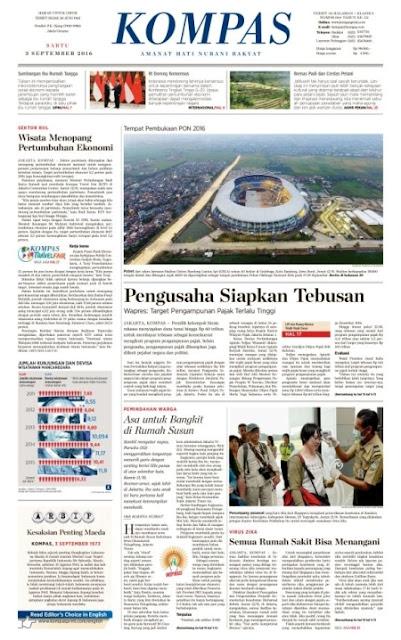 Kompas Edisi Sabtu 3 September 2016