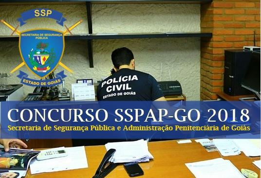 Processo Seletivo Polícia Civil SSPAP GO 2018