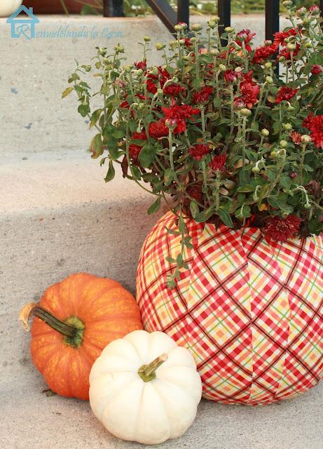 plastic porch pumpkin