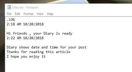 How To Make Diary In Computer ,notepad diary