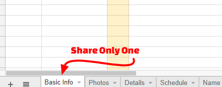 Share a Single Sheet Tab in Google Spreadsheets