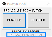 PES 2019 Demo Broadcast Camera ZOOM Disabler
