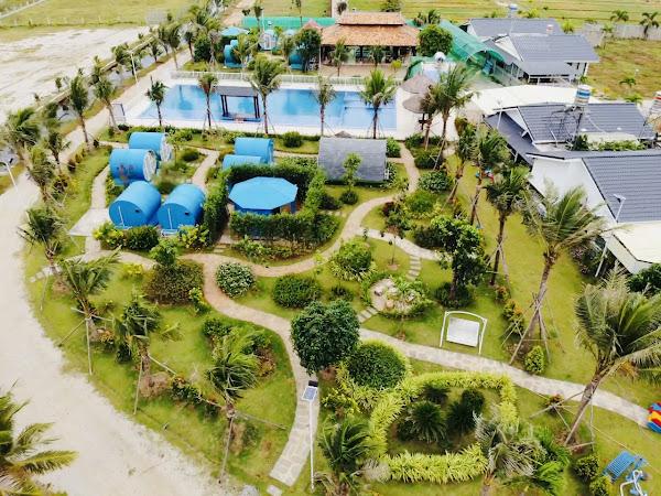 tổng quan khu nghỉ dưỡng happy garden Hồ Tràm