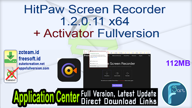 HitPaw Screen Recorder 1.2.0.11 x64 + Activator Fullversion