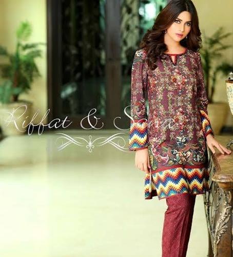 97280d0257 Riffat   Sana Salman Winter Formal   Semi Formal Women Dresses Designs