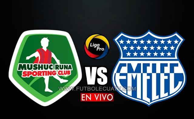Mushuc Runa se mide ante Emelec en vivo y en directo a partir de las 19h00 hora local, prosiguiendo la fecha diez de la Liga Pro, con transmisión de GolTV Ecuador a jugarse en el estadio Bellavista de Ambato. Siendo el juez principal René Marín.