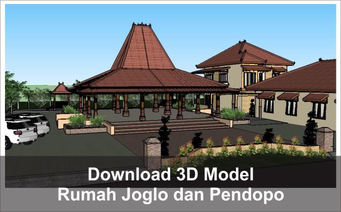 download 3d rumah joglo dan pendopo