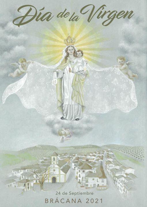 Cartel del Día de la Virgen 2021 de Brácana (Granada)