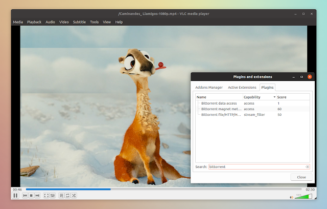 VLC BitTorrent plugin