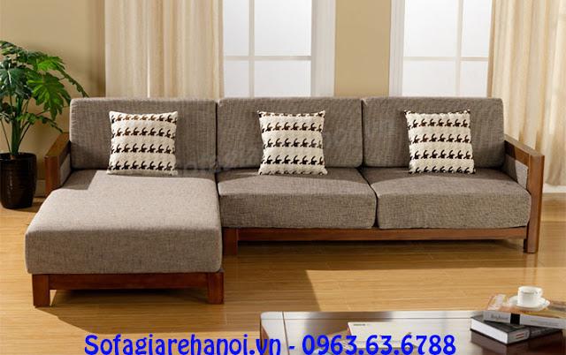Độc đáo và sáng tạo với mẫu ghế sofa gỗ nệm chữ L hiện đại!