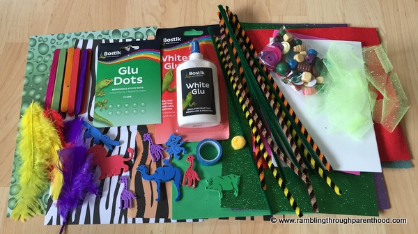 What came inside this month's Bostik craft box