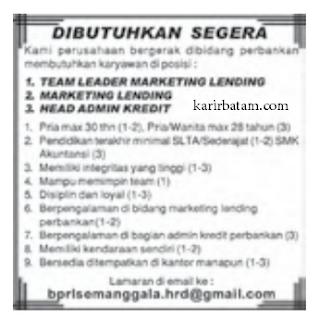 Lowongan Kerja Marketing Lending (Januari 2021)