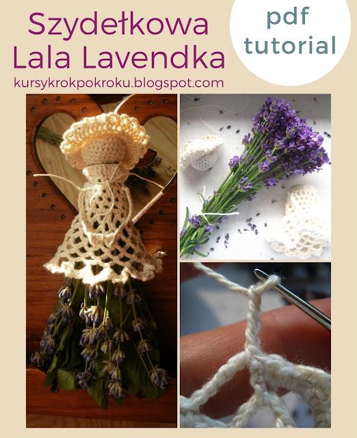 Szydełkowa lala Lavendka PDF - krok po kroku