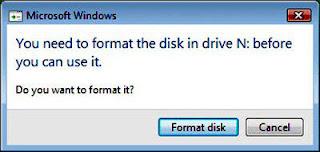 cara memperbaiki flashdisk yang minta format terus