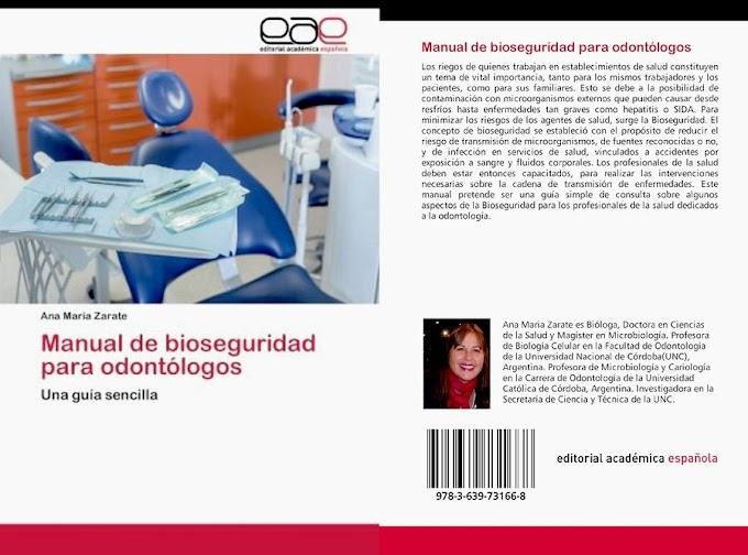LIBROS DE ODONTOLOGÍA: Manual de Bioseguridad para odontólogos - Zarate Ana Maria